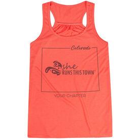Flowy Racerback Tank Top - She Runs This Town Colorado Runner