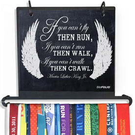 BibFOLIO Plus Race Bib and Medal Display - If You Can't Fly Chalkboard