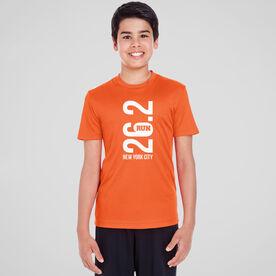 Men's Running Short Sleeve Tech Tee - New York City 26.2 Vertical