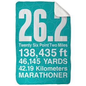 Running Sherpa Fleece Blanket 26.2 Math Miles