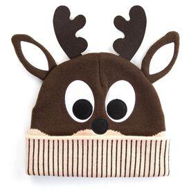 Happy Hatter Reindeer Knit Beanie Hat
