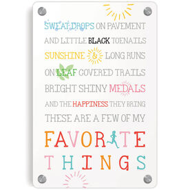Running Metal Wall Art Panel - Runner's Favorite Things
