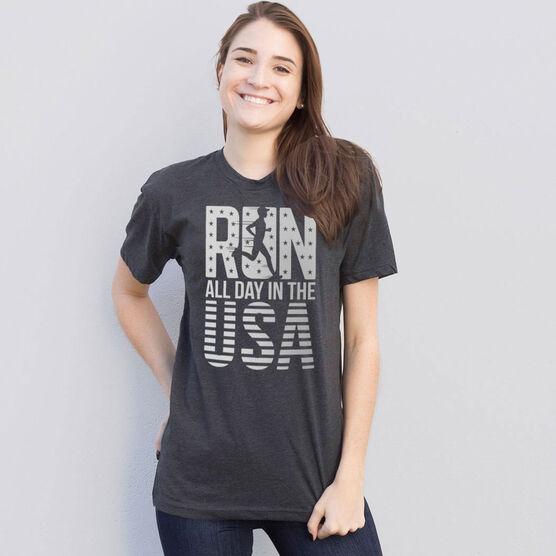 Running Short Sleeve T-Shirt - Run All Day In The USA