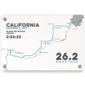 Running Metal Wall Art Panel - California 26.2 Route