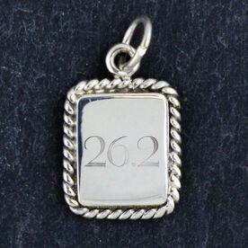 Sterling Silver Rectangular Framed Charm 26.2