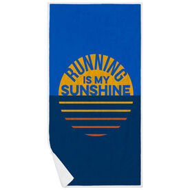 Running Premium Beach Towel - Running is My Sunshine