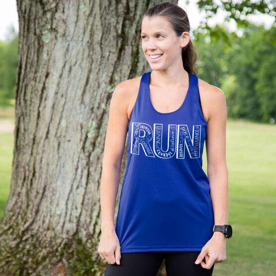 Women's Racerback Performance Tank Top - Run With Inspiration