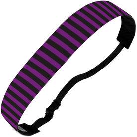 Athletic Juliband No-Slip Headband - Purple Black Stripe