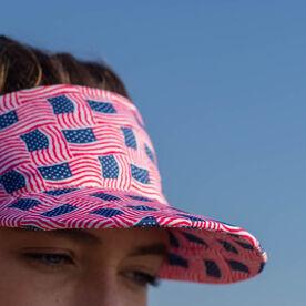Running Comfort Performance Visor - USA Patriotic