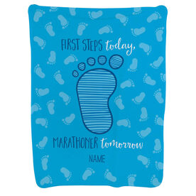 Running Baby Blanket - First Steps Today, Marathoner Tomorrow