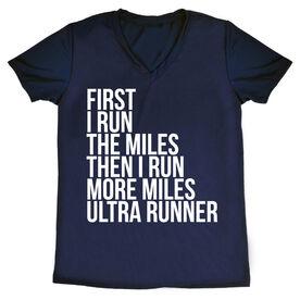 Women's Running Short Sleeve Tech Tee - Then I Run More Miles Ultra Runner