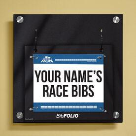 Personalized My Race Bibs Wall BibFOLIO® Display