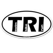 Swim Bike Run Triathlon TRI Car Magnet - White