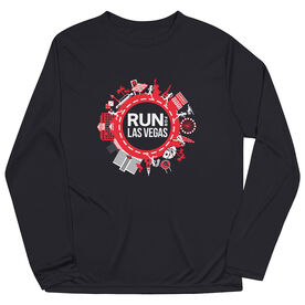 Men's Running Long Sleeve Performance Tee - Run for Las Vegas