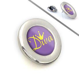 Running Lapel Pin Diva