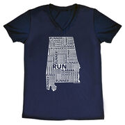 Women's Running Short Sleeve Tech Tee Alabama State Runner