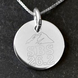 Sterling Silver 20 mm Circle Necklace Steamboat Marathon Artwork 2014