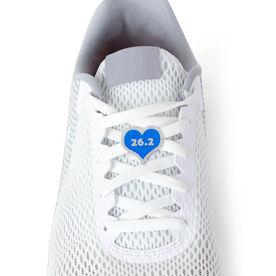 26.2 Marathon Blue Heart - LaceBLING Shoe Lace Charm