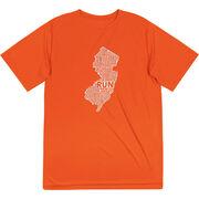 Men's Running Short Sleeve Tech Tee - New Jersey State Runner