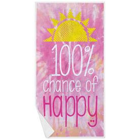 Premium Beach Towel - 100% Chance of Happy Tie-Dye