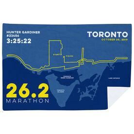 Running Premium Blanket - Toronto 26.2 Route