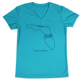 Women's Running Short Sleeve Tech Tee - Moms Run This Town Florida Runner