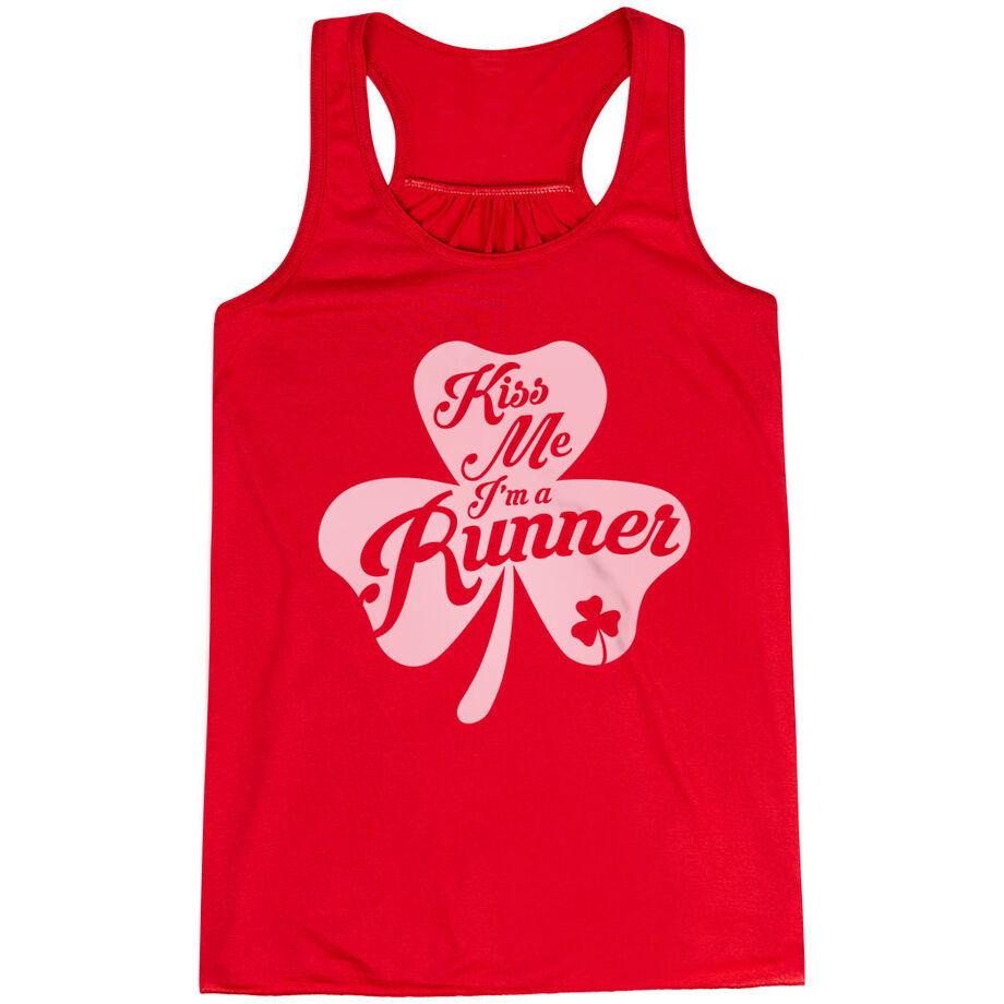 Flowy Racerback Tank Top - Kiss A Lucky Runner