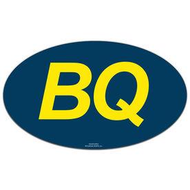 BQ Oval Car Magnet