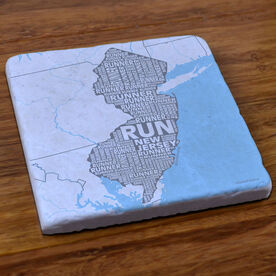 New Jersey State Runner Stone Coaster