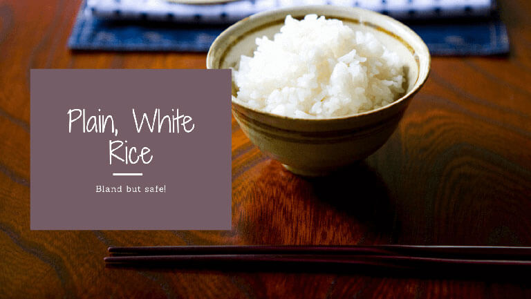 Plain White Rice after a Run