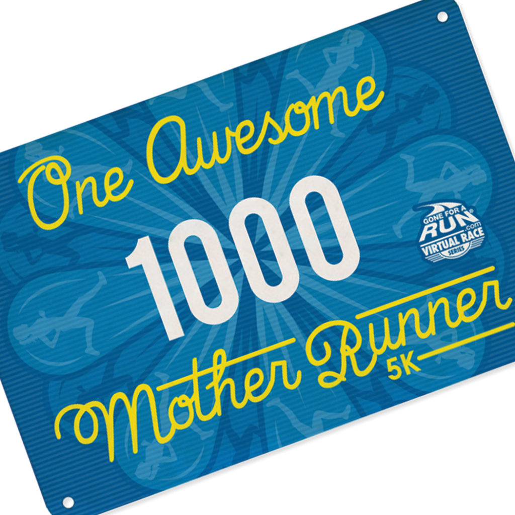 Awesome Mother Runner Race Bib