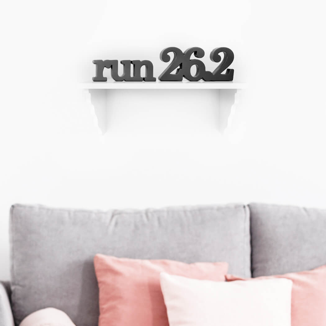 Marathon Gifts - 26.2 Wood Words