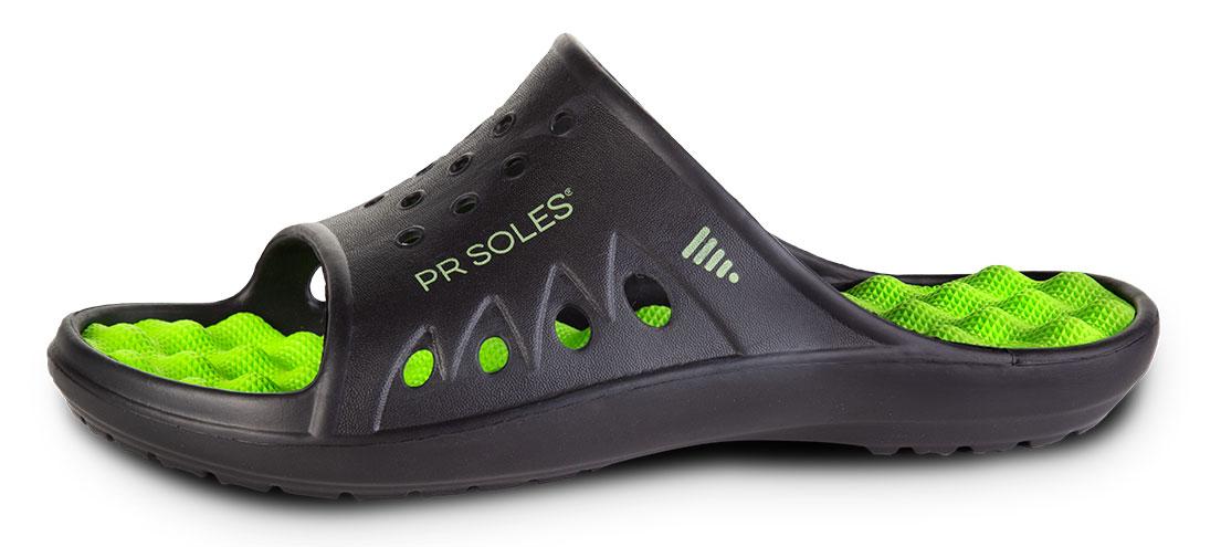 Black/Green PR Soles Sandal
