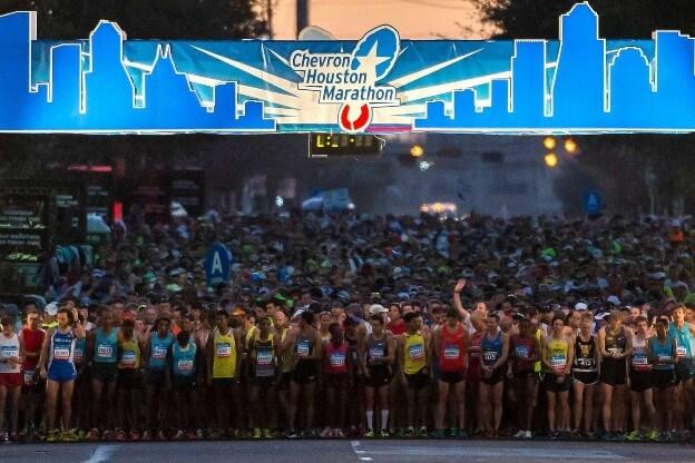 Start of the Houston Marathon