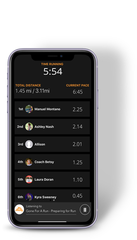 Charge Running App on iPhone