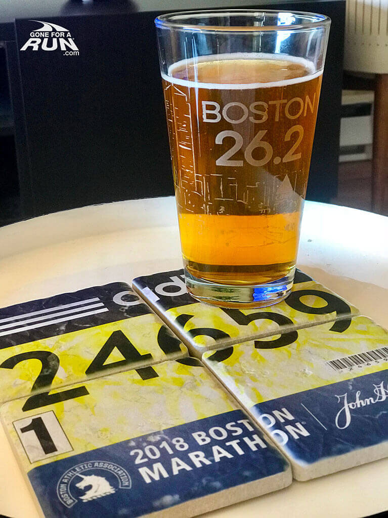 Custom BibCOASTERs made from photos of your race bib.