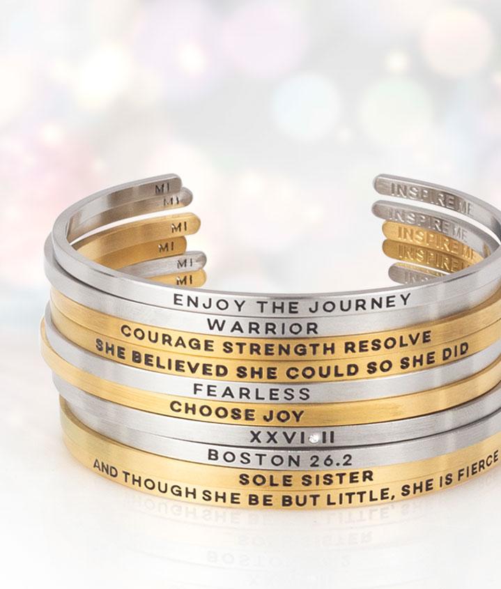 Inspirational Runner Cuff Bracelets