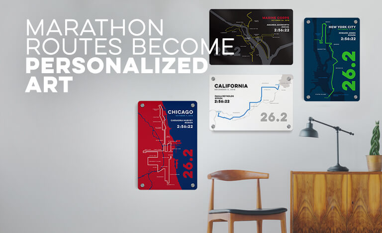 Marathon Routes Become Personalized Art
