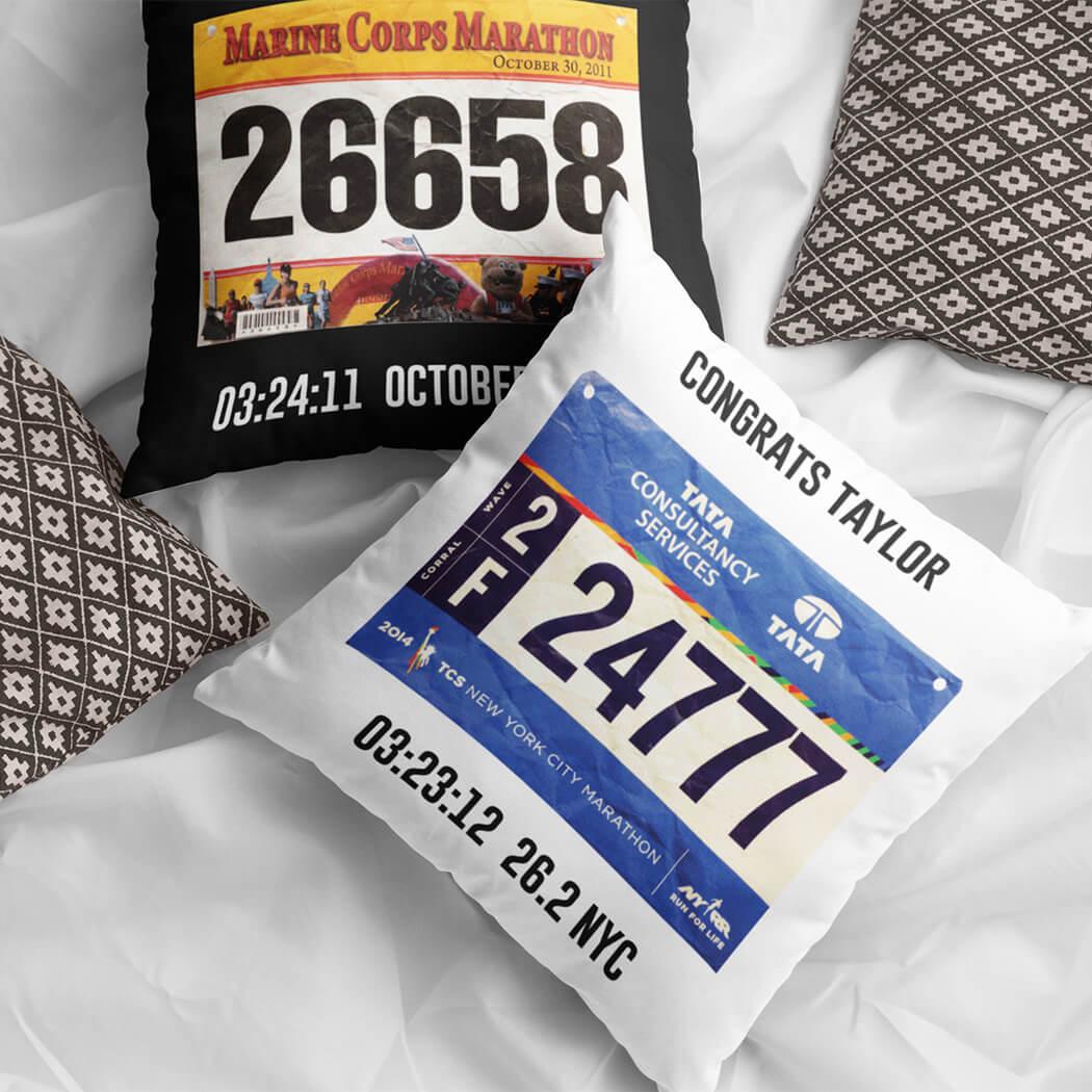 Marathon Gifts - Throw Pillow