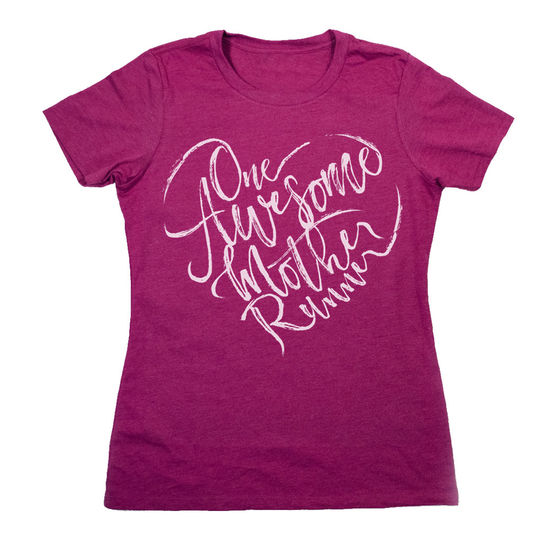 awesome mother runner shirt