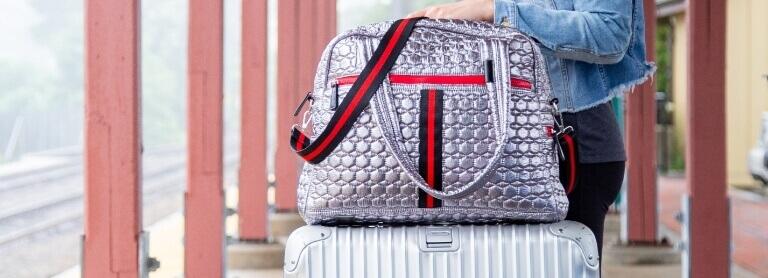 Silver Flight Bag
