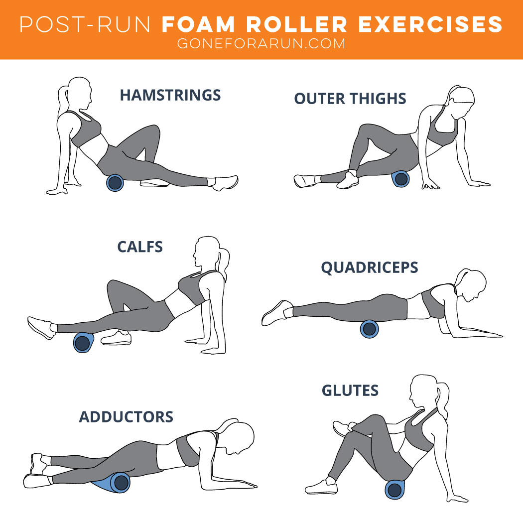 Post-Run Foam Roller Exercises