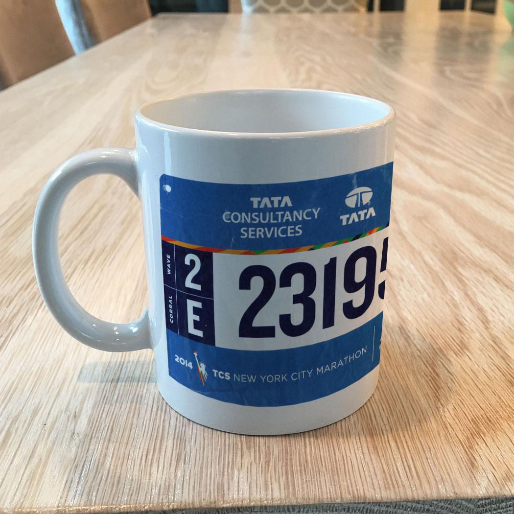 Custom Race Bib Mug