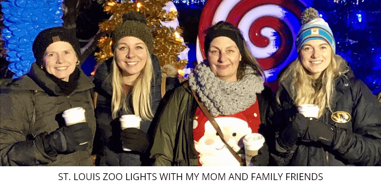 St. Louis Zoo Lights With My Mom and Family Friends