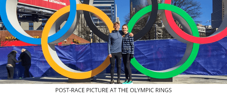 Post-Race Picture At The Olympic Rings