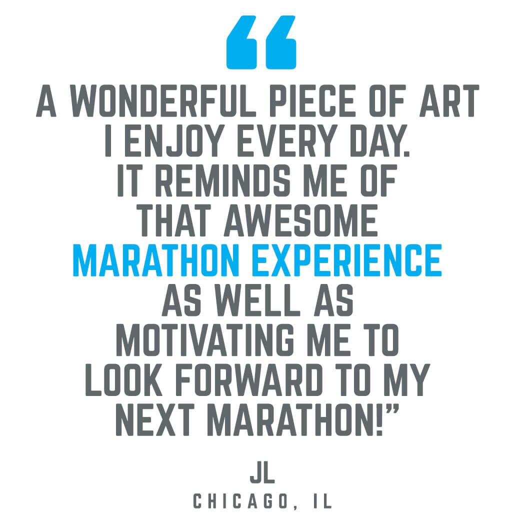 Marathon Route Wall Art Testimonial