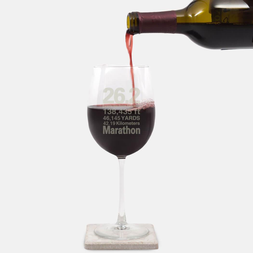 Marathon Gifts - Wine Glasses
