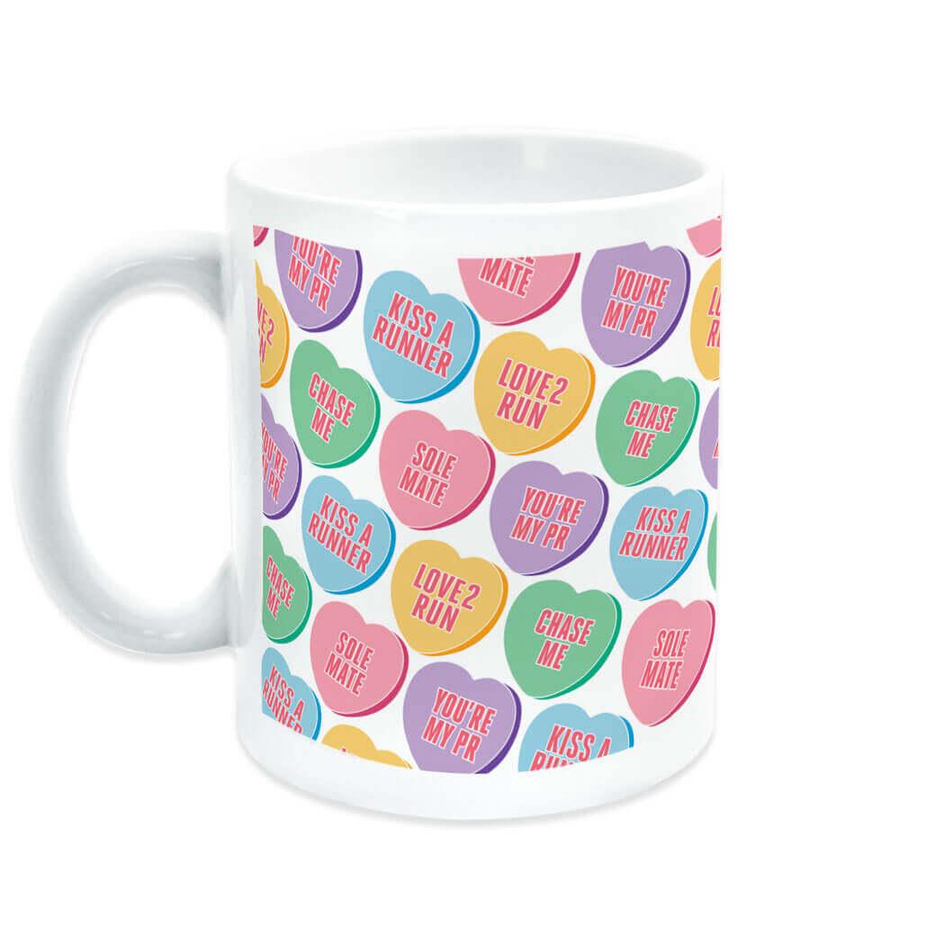 Love to Run Candy Hearts Coffee Mug