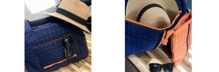 Blue Flyte Bag with Orange Clutch
