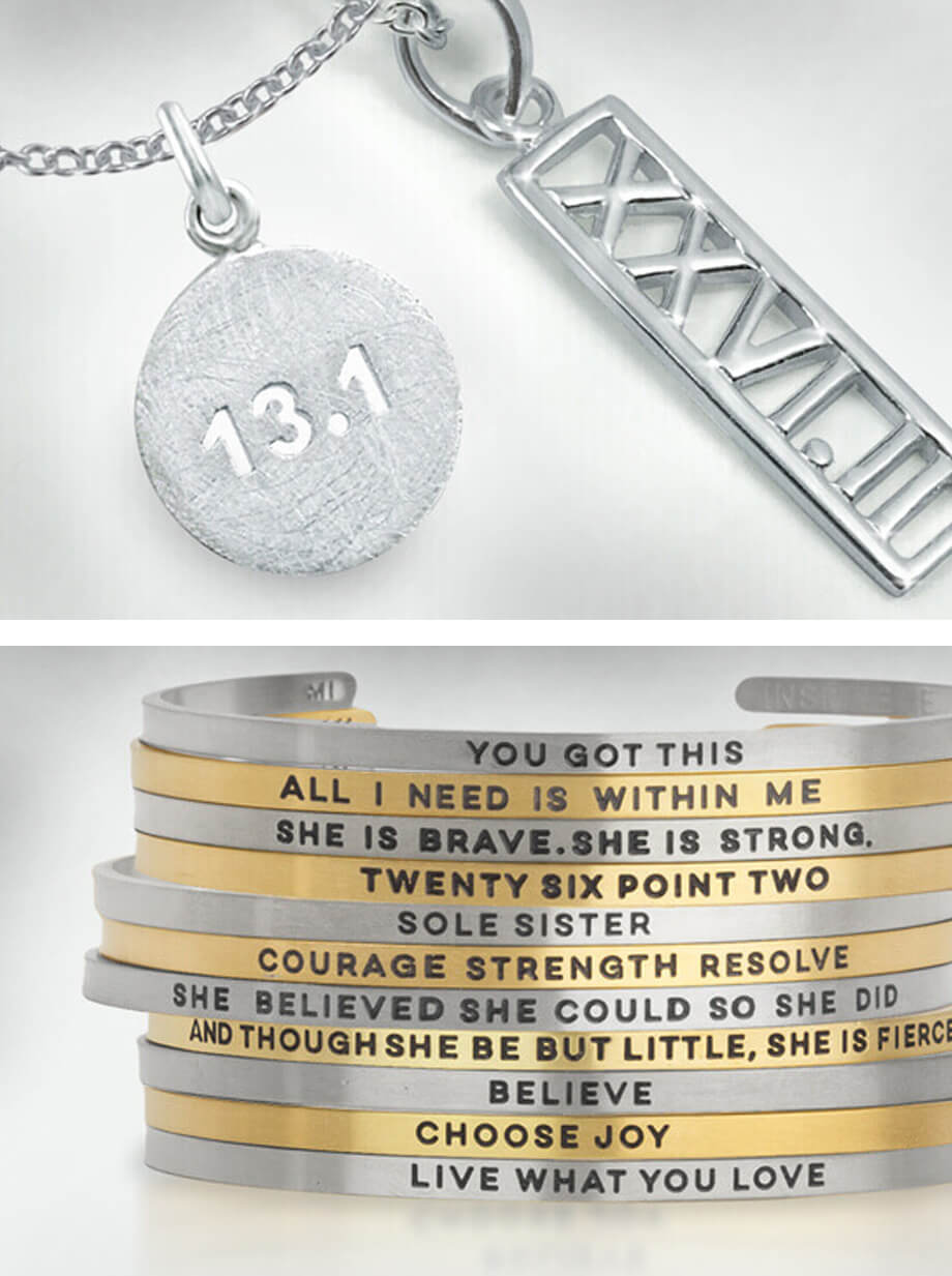 Runner Jewelry - Necklaces, Earrings & Bracelets
